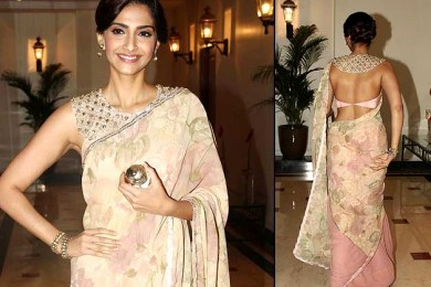 Soonam Kapoor in Floral saree