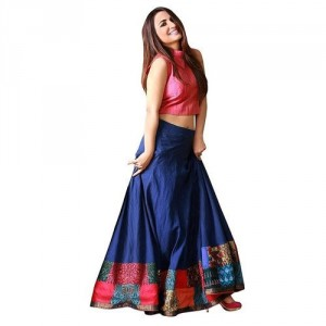 Convert a salwar to a lehnga skirt