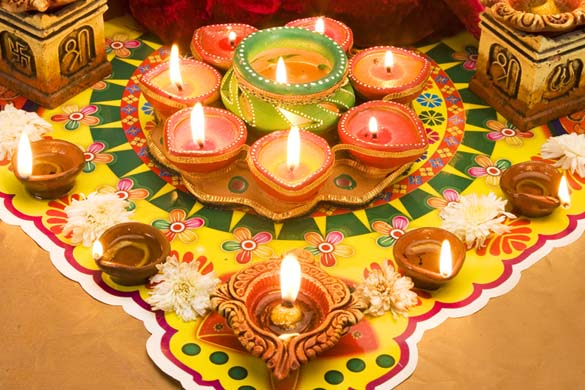 Diwali decor ideas for home fashion in india threads for Home decorations diwali