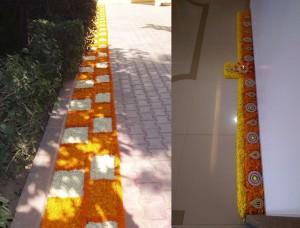 Flower border rangoli