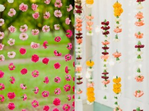 Flower strings for diwali decoration