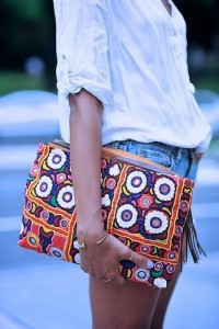 Multicolor Indian embroidery bags
