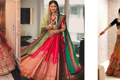 Resuse Bridal lehnga for karvachauth