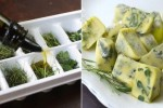 Store herbs in cubes