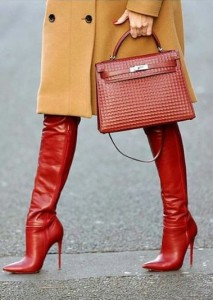Pencil heel boots for winters