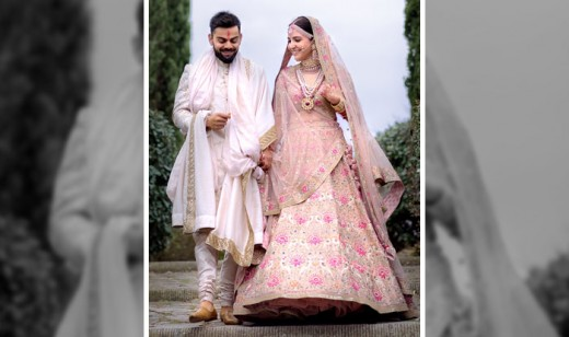 Anushka Sharma in floral lehnga