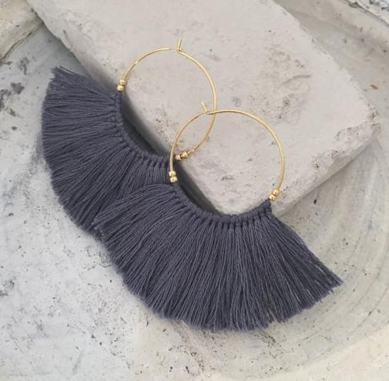 Loop Tassel Earrings