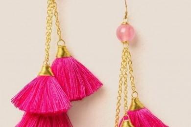 Multi chain tassel earrings