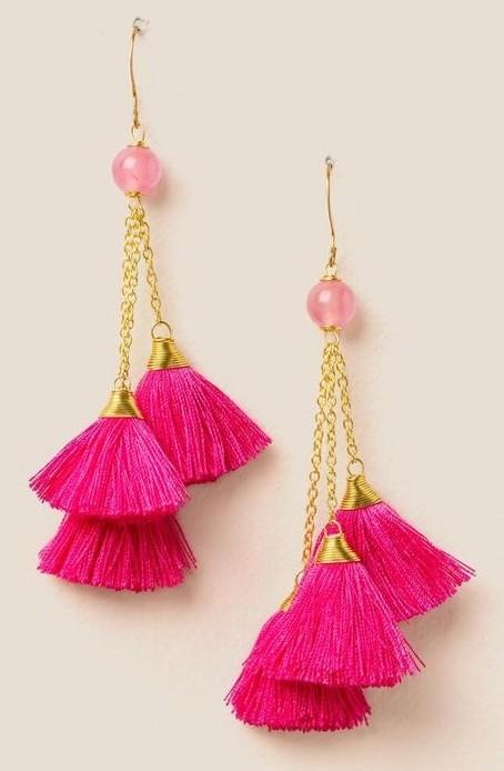 Multi chain tassel earringsMulti chain tassel earrings