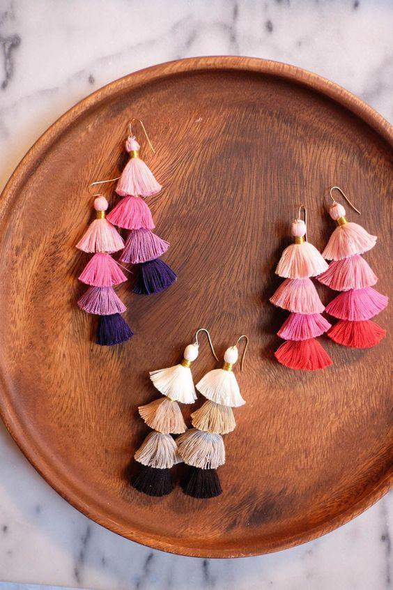 Multilayered Tassel earrings