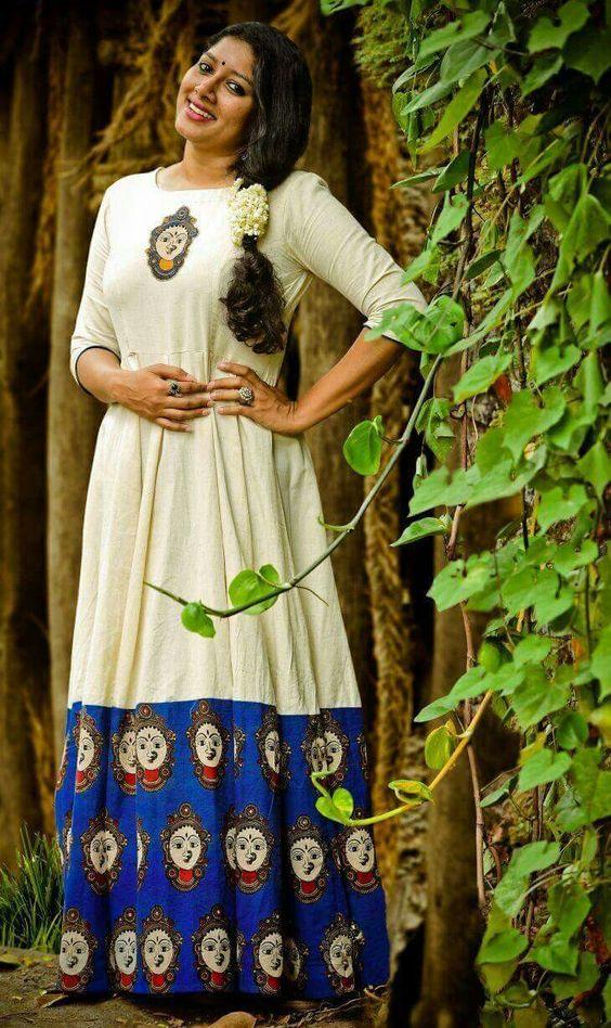 Kalamkari Floor length Anarkali