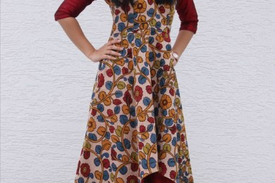 Kalamkari assymetric dress