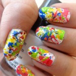 Splatter Nails For Holi
