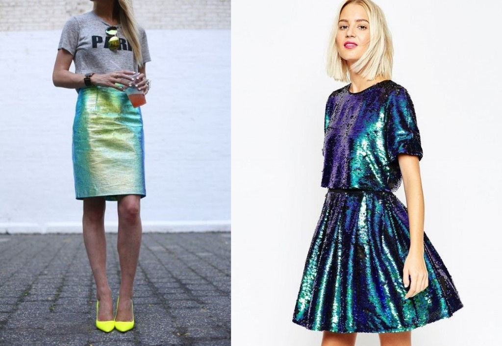 Holographic skirts