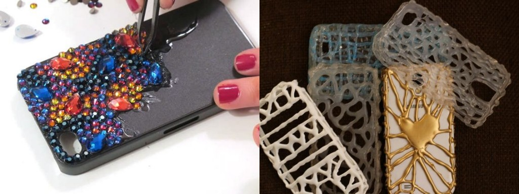 Hot glue phone case