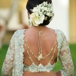 Jewelled Saree Blouse Neck Designs For Brides