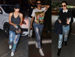 Malaika arora in Holographic pants