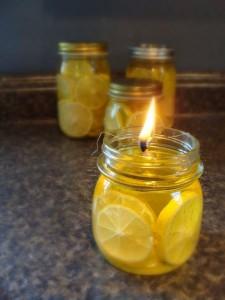 Natural Citrus peel candles