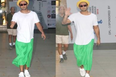 We Love Ranveer Singh's Wacky Skirt Look For Women's Day