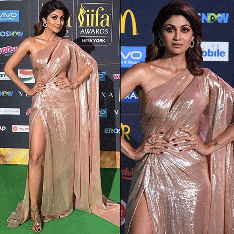 Shilpa shetty in holographic gown