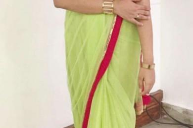 Shrug jacket with saree