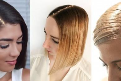 Simple glitter line for hair