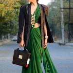 6 Ways To Wear A Jacket With Saree