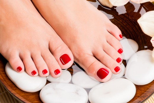 Tan removing pedicure at home