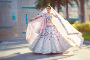 White bridal lehnga