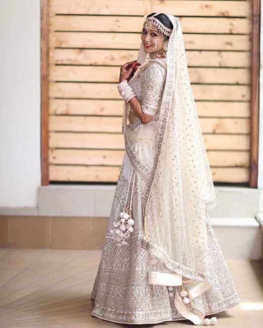 White bridal lehnga