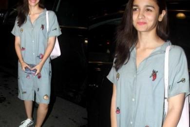 Alia Bhatt in Shirt dress