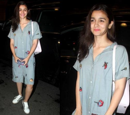 Alia Bhatt in Shirt dress