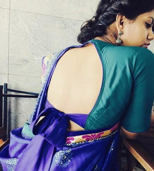 Bow design blouses