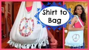 No sew T-shirt bag