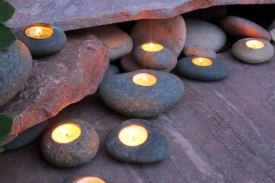 Rocks and pebbles lights for home