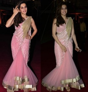 Tapasee Pannu in mermaid saree
