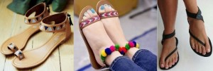 Bracelet style sandals