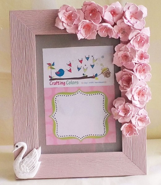 Handmade mother's day photo frame
