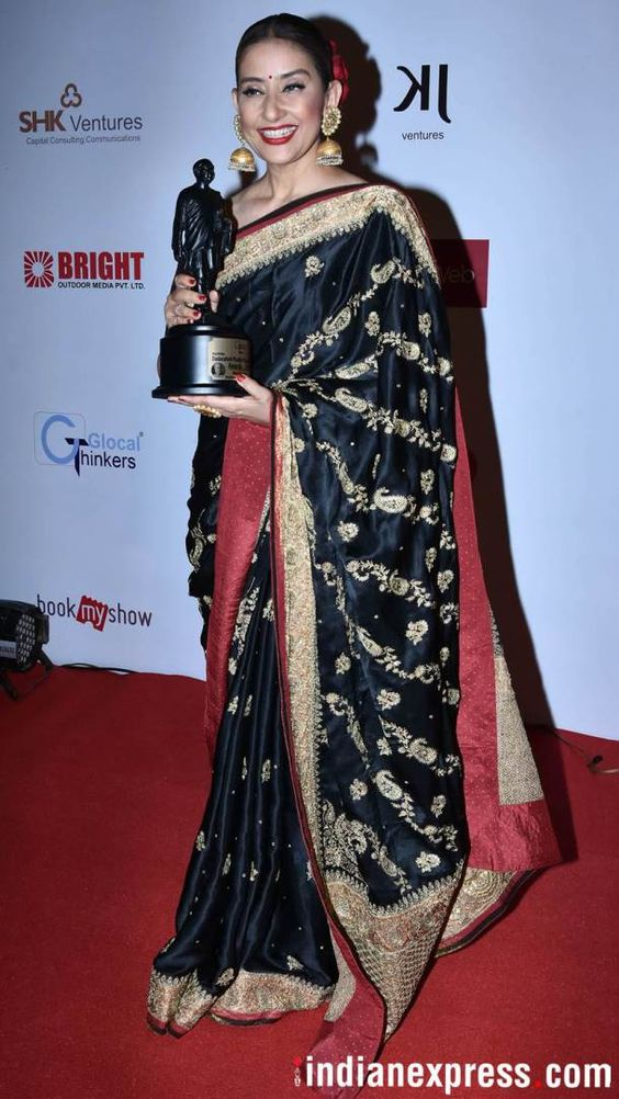 Manisha Koirala at Dadasaheb phalke awards