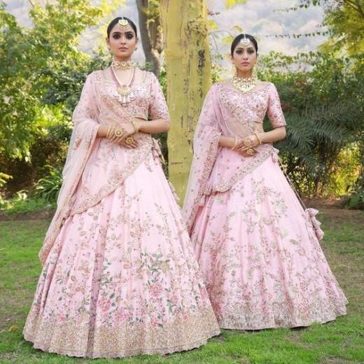 Pink bridal lehngas