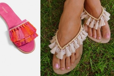Tassel summer footwear