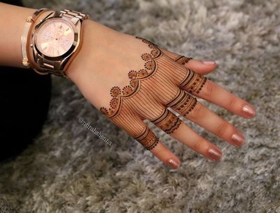 Mehndi Designs In Fingers : Simple mehndi designs for fingers threads