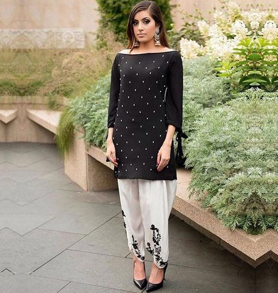 off shoulder kurta and salwar