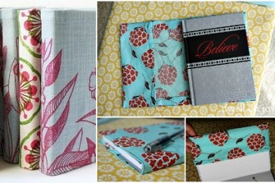 Block printed book covers