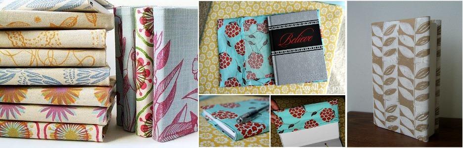 Block printed book covers