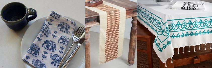 Blockprinted table cloth