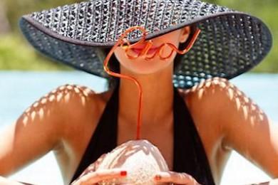 Crochet sun hat for beach