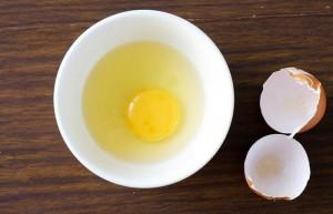 Egg white for fighting wrinkles