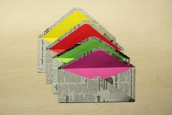Newspaper packaging ideas