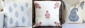 Revamp old Cushion covers with block printing